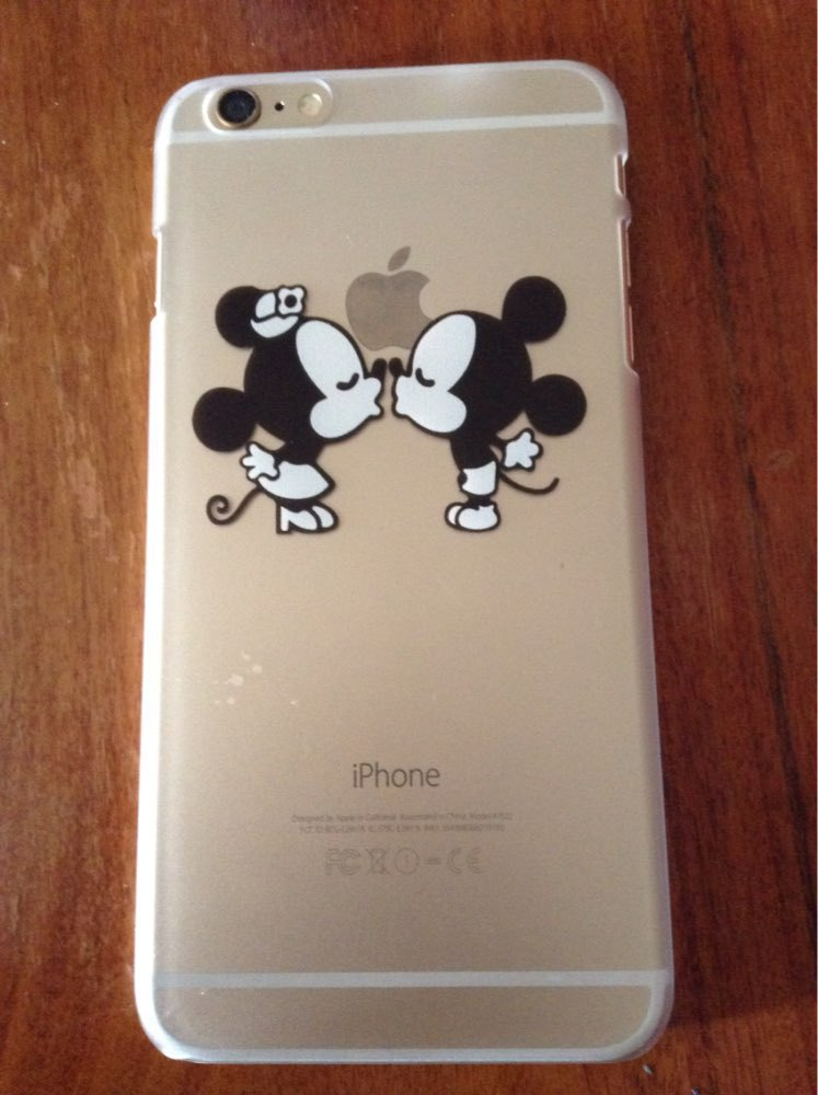 Cute-Cartoon-Minnie-mickey-Mouse-KIss-Transparent-hard-PC-Cover-Cases-coque-For-Apple-iphone-4